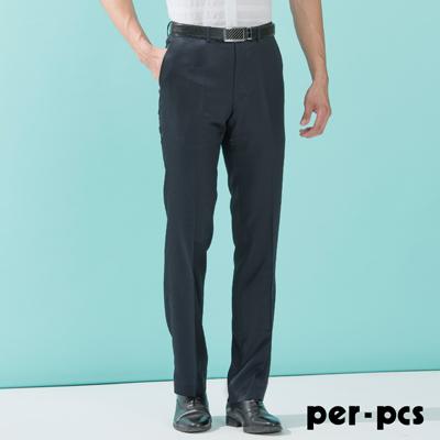 per-pcs 正式品味合身版平面西褲 深藍(713113)
