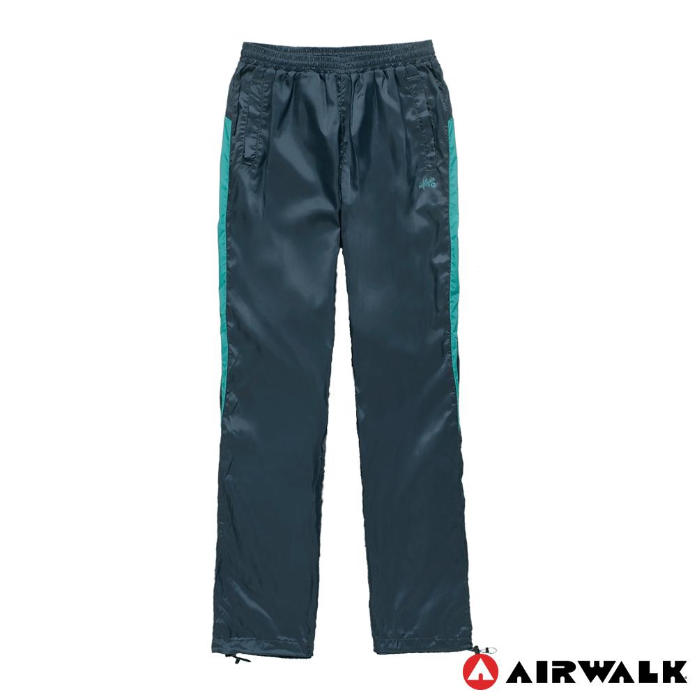 AIRWALK(女) - 拼接色塊風衣長褲 - 深藍