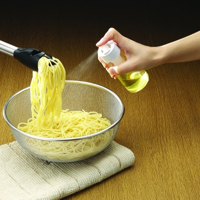 日本RISU調味油噴霧玻璃罐(140ml)白色