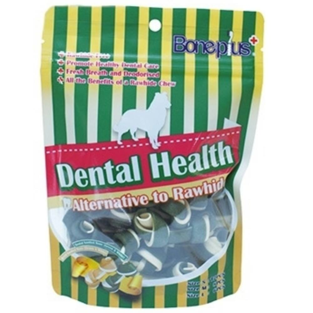 Bone Plus 葉綠高鈣雙色潔牙骨結《小袋裝》