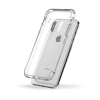 防摔專家 iPhoneX 新進化極薄清透空壓殼(透明)
