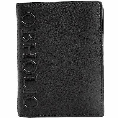 OBHOLIC 黑色咖啡色牛皮信用卡套卡片夾