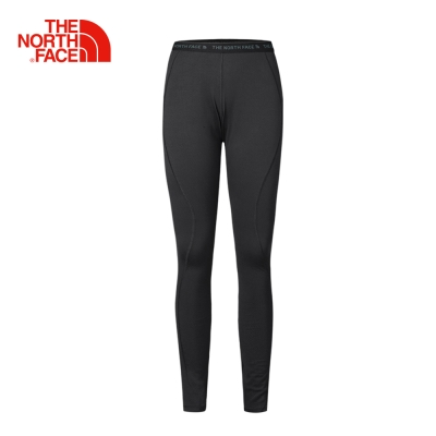 The North Face北面女款黑色吸濕排汗彈力透氣運動緊身褲