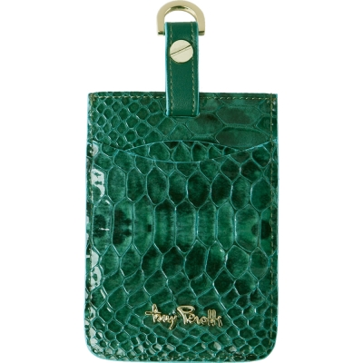 TONY PEROTTI 義大利蟒蛇紋 識別證/行李吊牌 #3300 ( 湖綠色 )