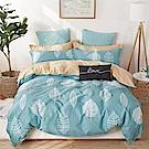 Ania Casa-台灣製 100%純棉 - 雙人床包被套四件組 - 風中倩影