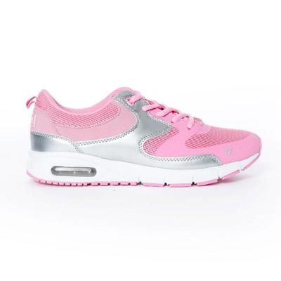 TOP GIRL-運動風異材拼接AIR慢跑運動鞋-粉紅