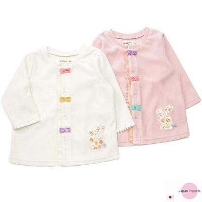 Japan Imports 彩色蝶結排扣天鵝絨長袖外套