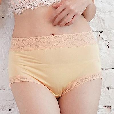 內褲 粉嫩色調100%蠶絲中高腰三角內褲 (黃) Chlansilk 闕蘭絹