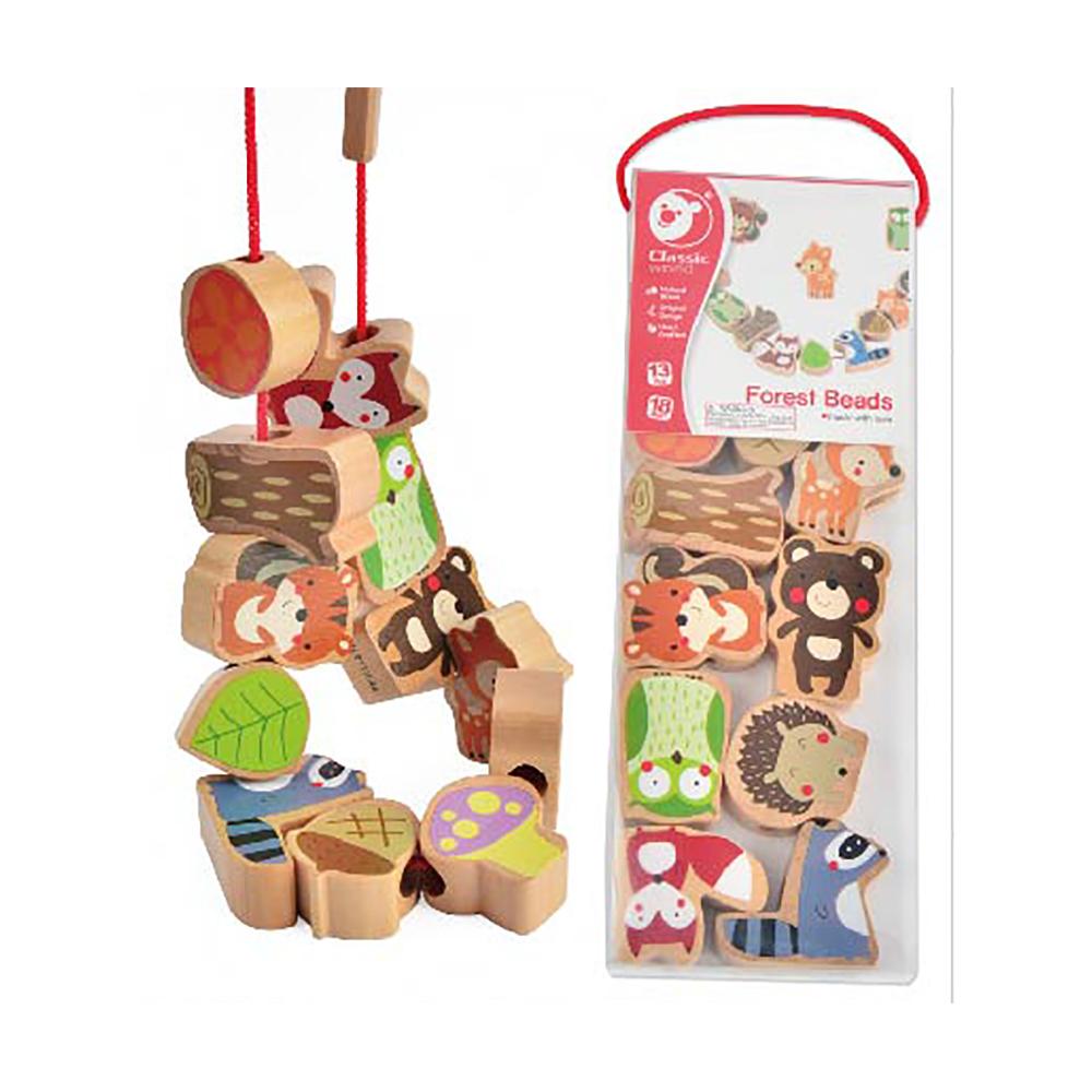 Classic World 德國經典木玩 木製益智串珠 森林款