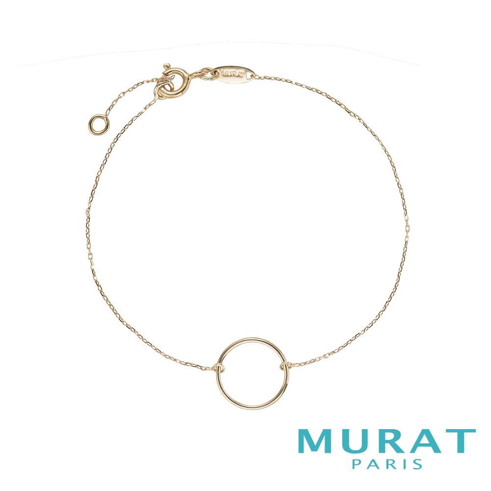 MURAT PARIS米哈巴黎 9K金系列 細緻圓圈手鍊