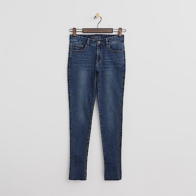 Hang Ten - 女裝 - 經典修身窄管牛仔褲-深藍