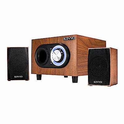 KINYO 2.1聲道多媒體木質喇叭KY-1703加贈百元耳機