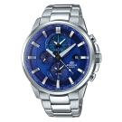 EDIFICE 世界地圖新風範日曆指針腕錶(ETD-310D-2A)藍/45.3mm