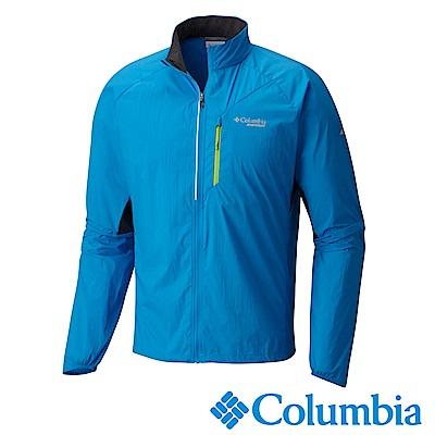 Columbia 哥倫比亞 男款-涼感防潑野跑風衣 藍色(UAE04370BL)
