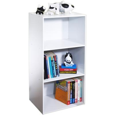 米蘭三格收納書櫃-白