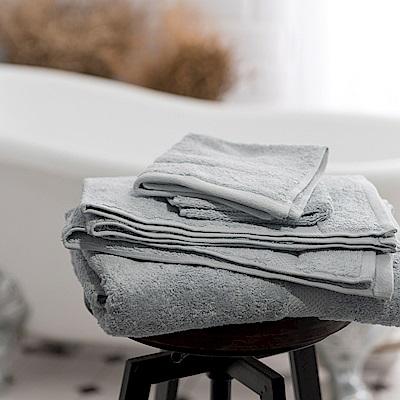 Canningvale 澳洲家用品牌 頂級埃及棉厚磅舒適毛巾枕巾2入組 淺灰