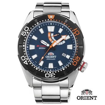 ORIENT 東方錶 M-FORCE 200米潛水機械錶-藍色/44mm