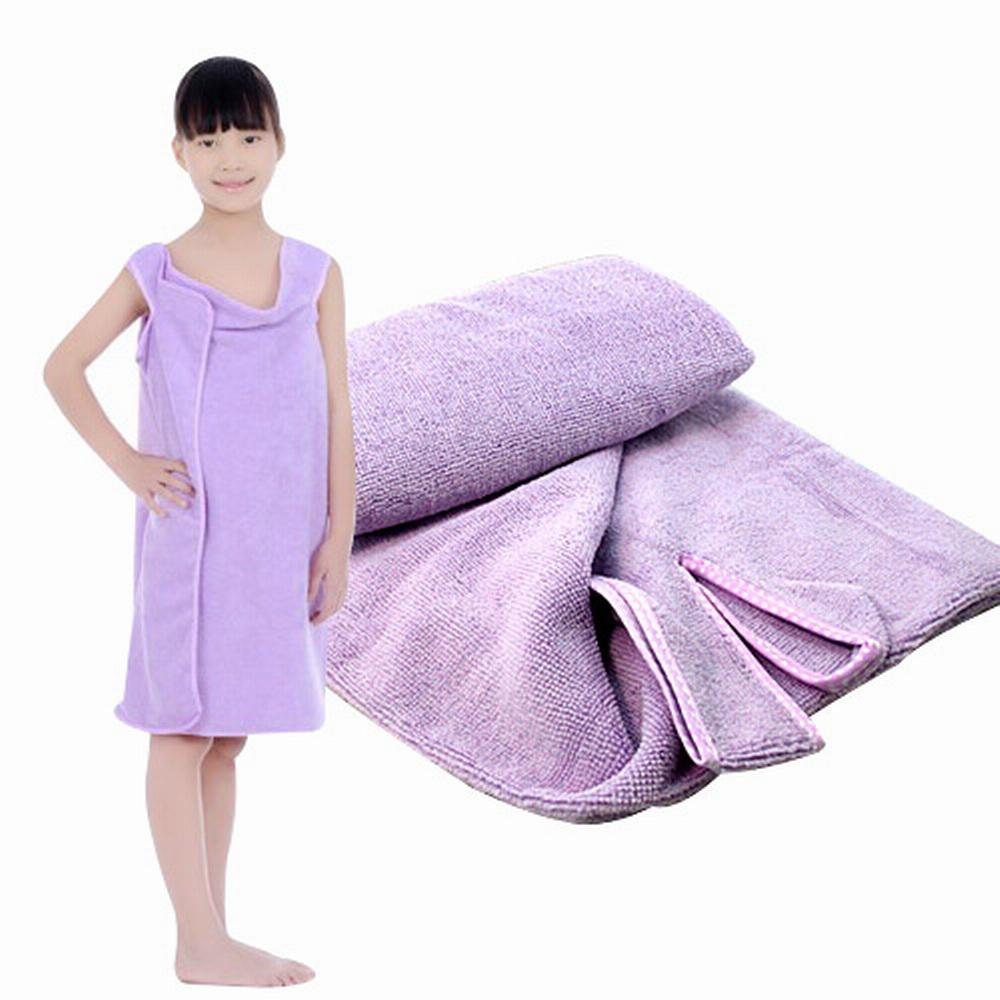 【iSFun】魔術百變可穿浴巾 兒童型/紫