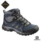 Salomon 登山鞋 中筒 GORETEX 防水 男 EVASION 藍黃