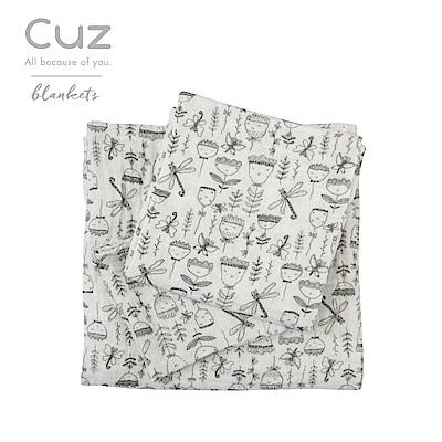Cuz-朵朵表情包(紗布巾)30cm-2入