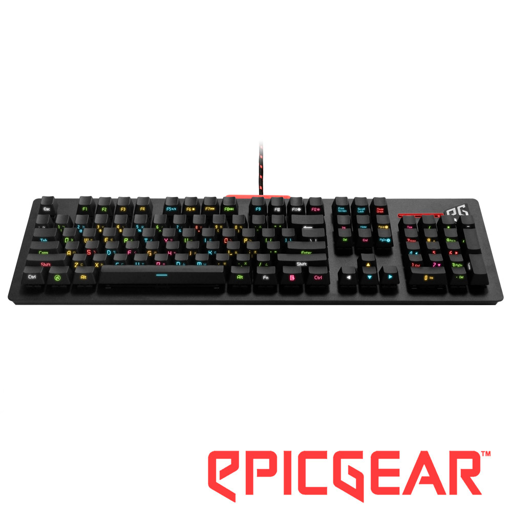 EPICGEAR DEFIANT 戰魔者機械式鍵盤-側刻紫軸中文