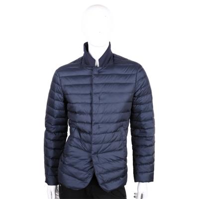 ARMANI Collezioni 深藍色立領羽絨外套(男款)