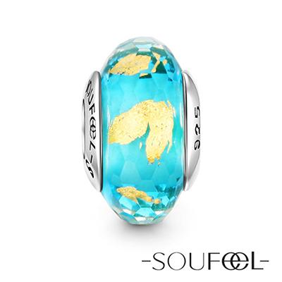 SOUFEEL索菲爾 925純銀珠飾 海浪沙灘 琉璃珠