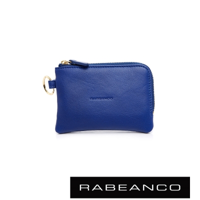 RABEANCO-經典小牛皮萬用鑰匙零錢包-藍