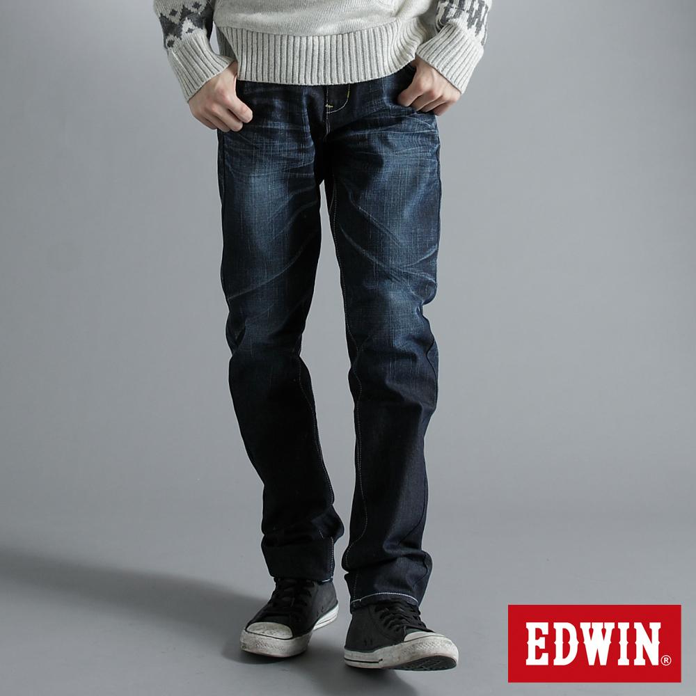 E-FUNCTION 3D中直筒牛仔褲-男-原藍色