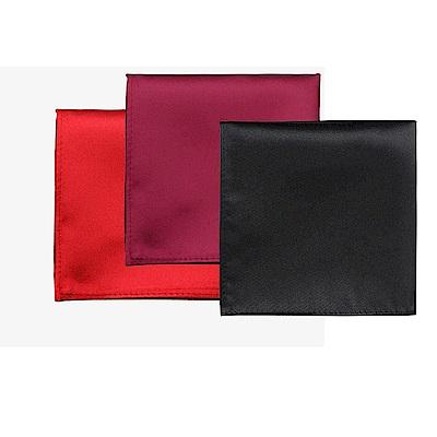 拉福 純色西裝口袋巾裝飾新郎晏會(3色可選)