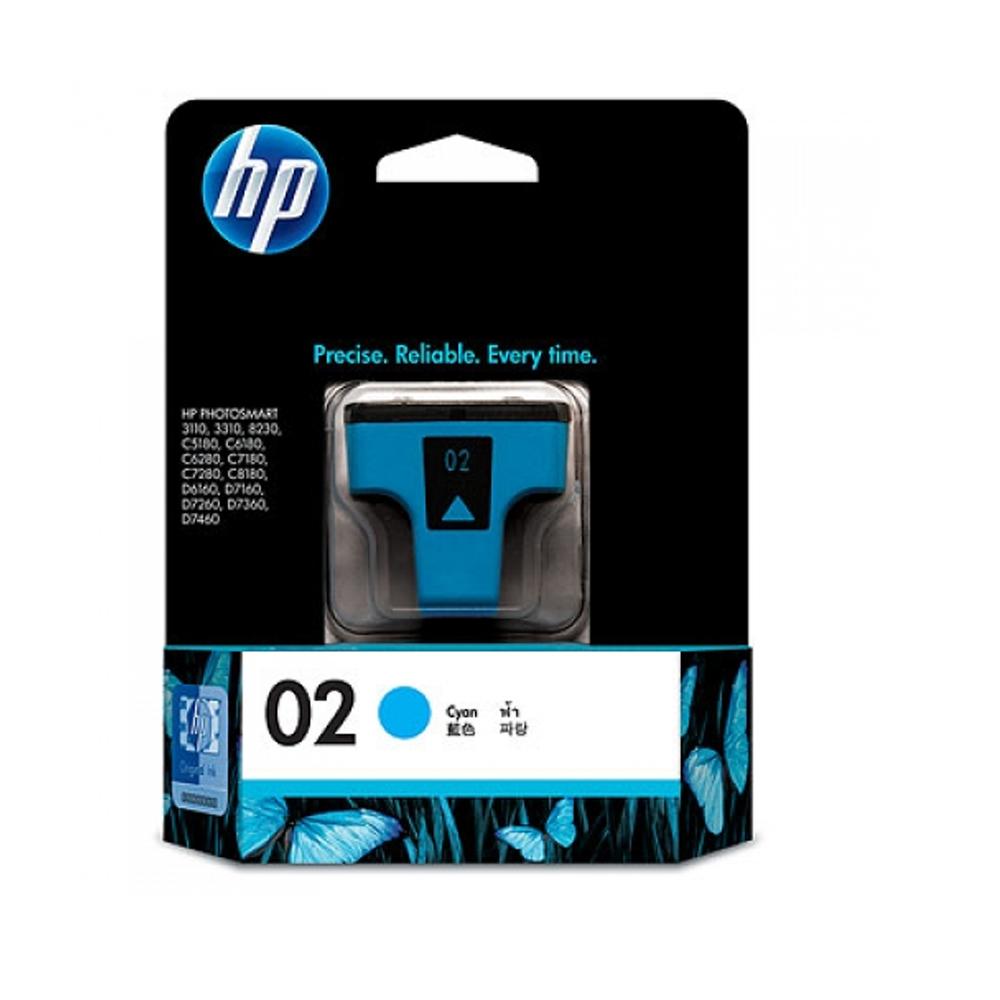 HP C8771WA NO.02 原廠青色墨水匣(一入)