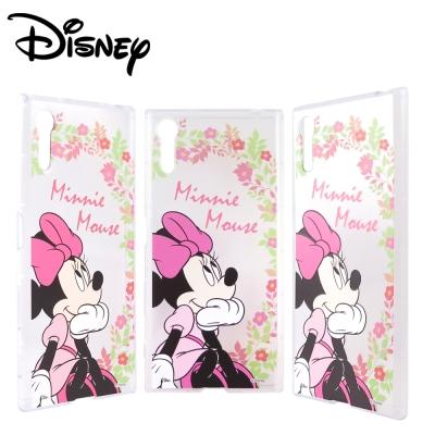 Disney迪士尼SONY Xperia XZ防摔氣墊空壓保護套_賞花米妮