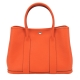 HERMES Garden Party TG牛皮手提包(36CM/經典橘9J/銀釦) product thumbnail 1