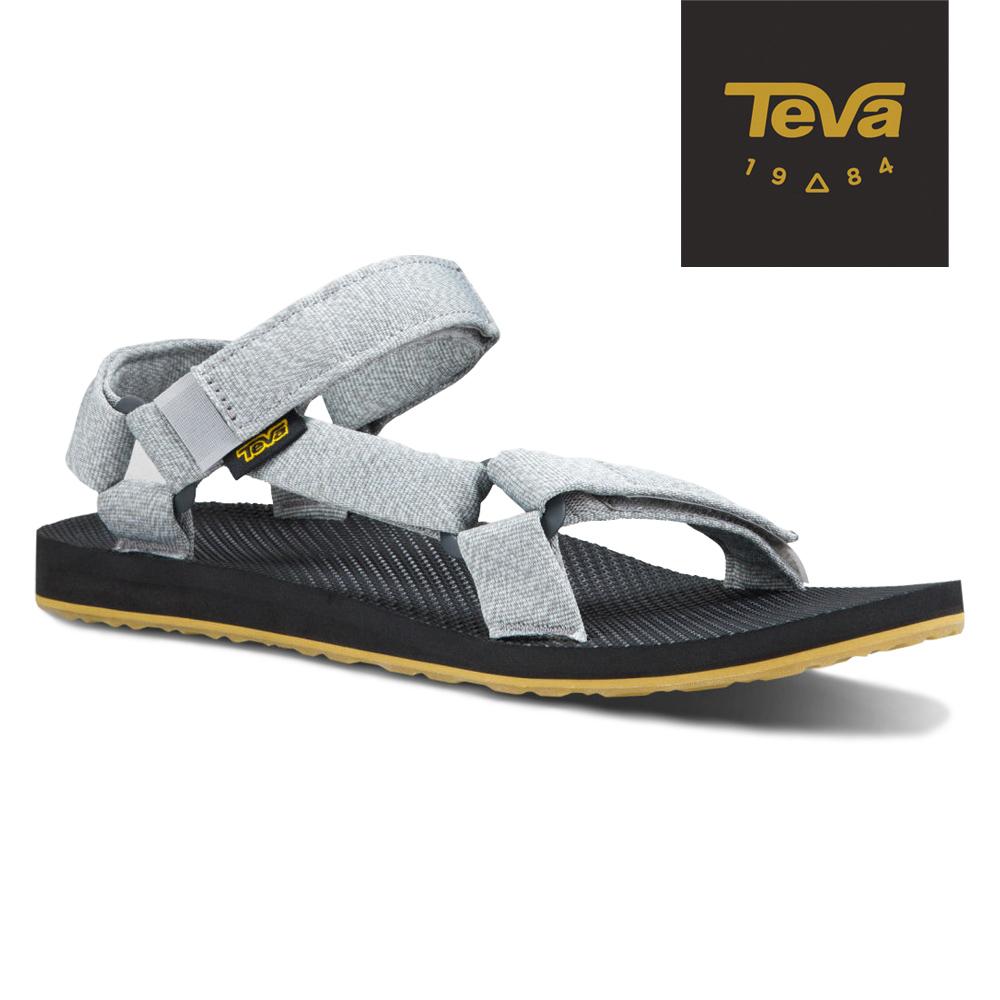 TEVA 美國-男 Original Universal 緹花涼鞋 (花紗灰)