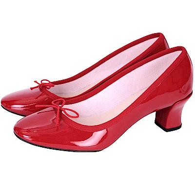 Repetto CLARA 紅色漆皮蝴蝶結低跟鞋(展示品)