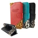 Savanna iPhone 5C 狂野系列豹紋拼接可立皮套