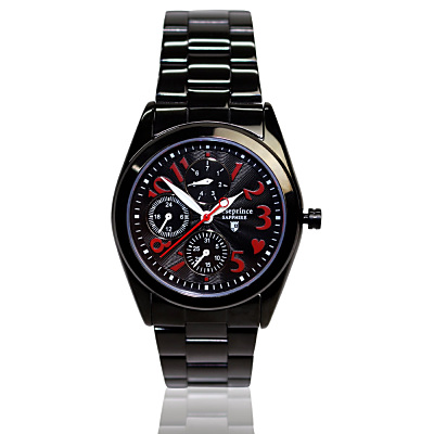 Arseprince 心型潮流三眼中性錶~黑色 32mm