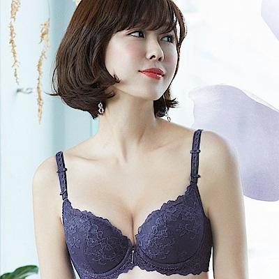 推Audrey-舒波花宴 美背款B-E罩內衣(貴族紫)