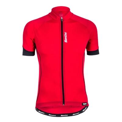 Santini-時間-短袖車衣-紅-SP-942
