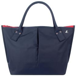 agnes b. 藍色點點紅色內裡水餃包(大/日本款)