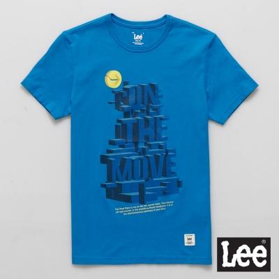 Lee 短袖T恤 藍色3D立體文字印刷 -男款(藍色)