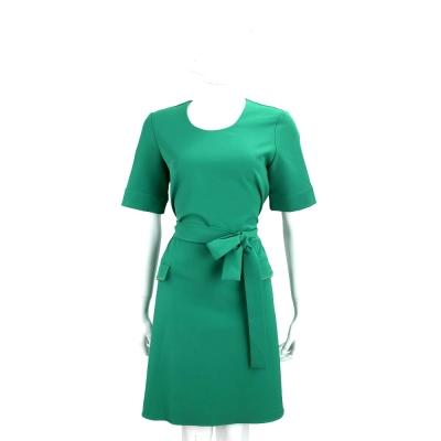 BLUGIRL-FOLIES 綠色綁帶設計短袖洋裝