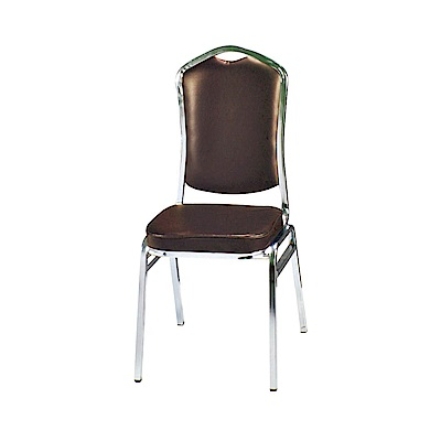 H&D 咖啡皮富士餐椅 (寬43X深48X高94cm)