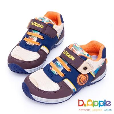 Dr. Apple 機能童鞋 印第安圖騰復古拉風童鞋款 咖