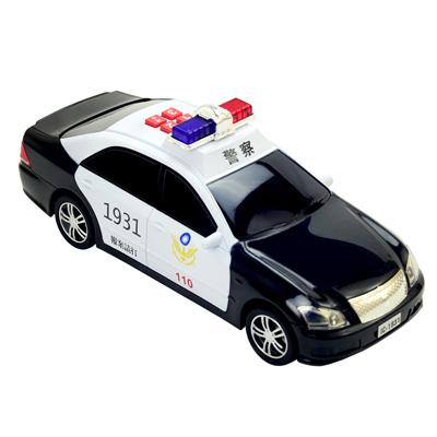 《警備車隊系列-警車》燈光音效錄音功能磨輪警車