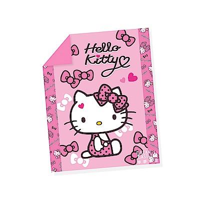 享夢城堡 單人涼被4x5-HELLO KITTY 蝴蝶結甜心-粉.紅