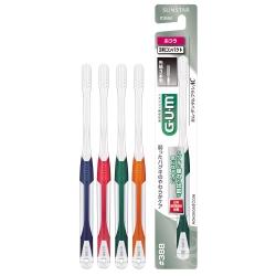 GUM牙周護理牙刷1支超彈力極細毛-小頭中毛#388(顏色隨機)