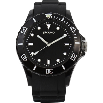 PICONO BALLOON COLOR 時尚腕錶-神秘黑/ 48 mm