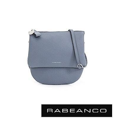 RABEANCO 迷時尚牛皮系列半圓弧設計斜背包(小)-墨水藍