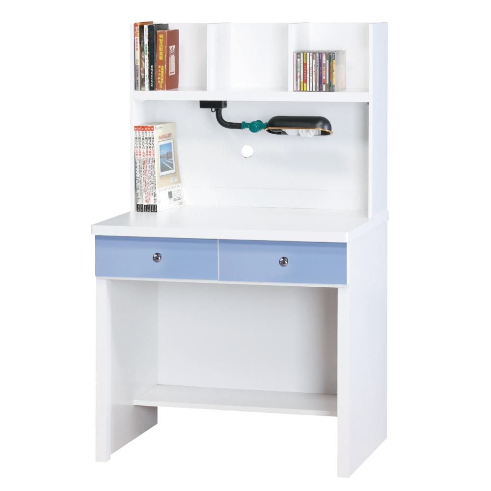品家居 傑森2.7尺書桌組合(三色可選)-81x58.5x138cm-免組